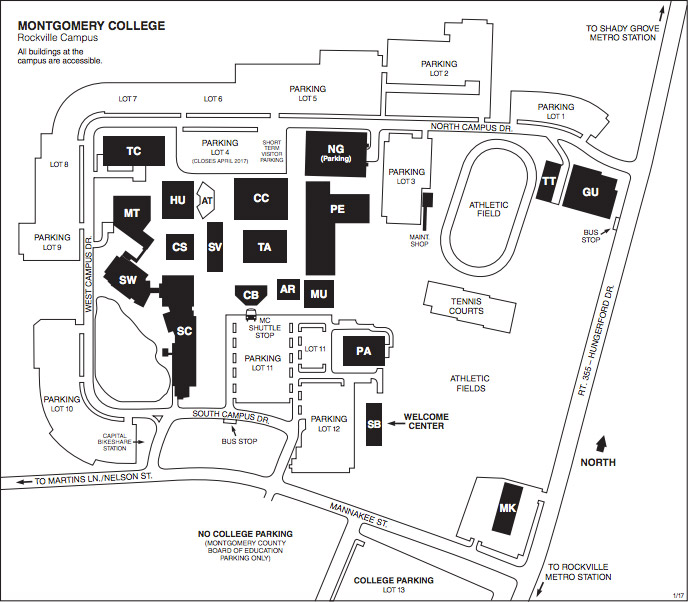Montgomery College Rockville Map